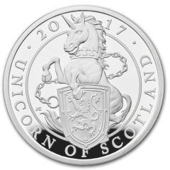 1 Unze Silber Queens Beasts Unicorn 2017 PP