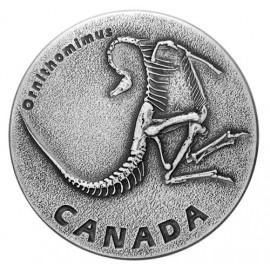 1 Unze Silber 20 $  Frühzeitliches Canada - Ornithomimus 2017