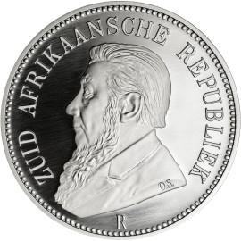 1 Unze oz Silber  125 Jahre 5 Shillings 1892 Südafrika