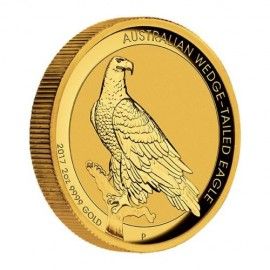 2 oz Unze Gold Wedge-Tailed Eagle High Relief PP mit Box 2017