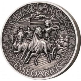 2 Unzen oz Silber  Gladiatoren Essedarius  2017  SOLOMON ISLANDS