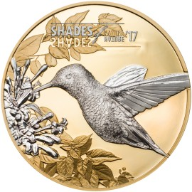 1 Unze oz Silber  5$  Shades of Nature - Kolibri   Hummingbird  Cook Islands 2017
