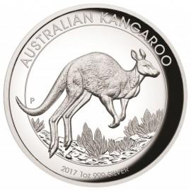 1 Unze Silber Känguru PP 2017 High Relief