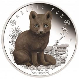 1/2 Unze Silber Baby Polar Fuchs Perth Mint PP Tuvalu