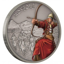 1 oz  Silver Mongo Warrior of History PP 2016