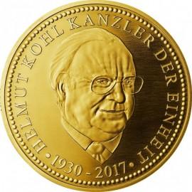 Silber Medaille  Helmut Kohl  Kanzler der Einheit vergoldet