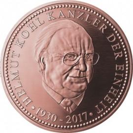 Silber Medaille  Helmut Kohl  Kanzler der Einheit verkupfert 3. Edition
