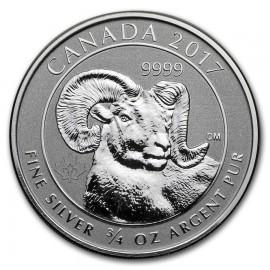 Kanada 3/4 Unze  Silber Big Horn Sheep 2017