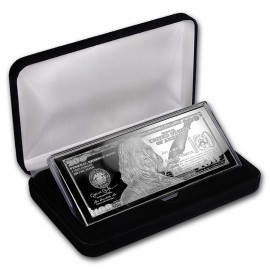 4 oz Silber Barren  PP  Box 100$ Bill