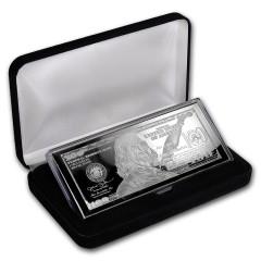4 oz Silber Barren  PP  Box 100$ Bill