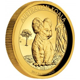 2 oz Koala Gold 2017 High Relief