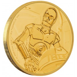 1/4 oz C-3PO™ Star Wars  PP  Gold 2017