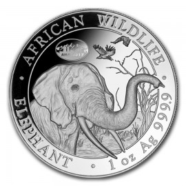 1 Unze Silber Somalia Elefant 2017 Privy ANA Denver Skyline