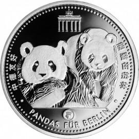 Silber Medaille  Pandas für Berlin im Blister