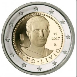 2 Euro Titus Livius Münze 2017 PP Gedenkmünze  Italien im Etui mit Zertifikat
