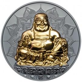 2 Unzen Silber laughing Buddha Palau 2017
