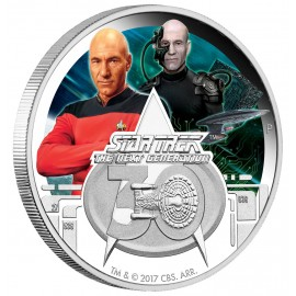 STAR TREK™ - The Next Generation - 30. Jubiläum  1 Oz Silber - Polierte Platte in Farbe