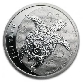 1/2 Unze Silber Fiji Taku Turtle