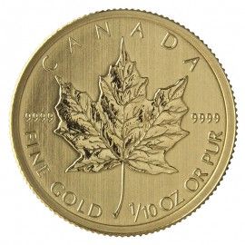 1/10 oz Maple Leaf 2015 Gold