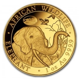1 oz Unze Gold Somalia Elefant 2017 Privy ANA Denver Skyline
