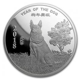 5 Unzen Silber  Round Year of the Dog PP Sunshine Mint
