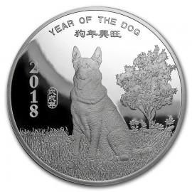 2 Unzen Silber  Round Year of the Dog PP Sunshine Mint