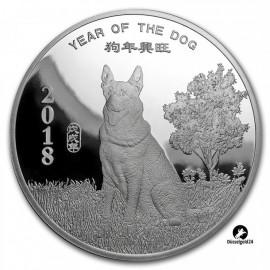 1 Unze Silber  Round Year of the Dog PP Sunshine Mint