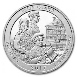 5 Unze Silber America The Beautiful ATB Ellis Islands  New Jersey