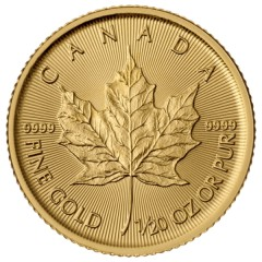 1/20 oz Maple Leaf diverse Jahrgänge Gold