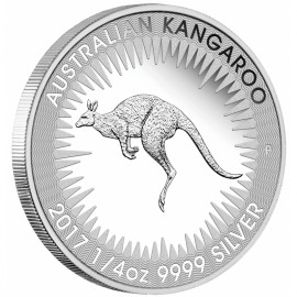 1/4 Unze Silber Känguru PP 2017