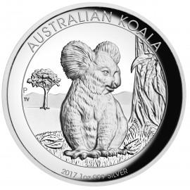 1 Unze  Silber Australien Koala 2017 High Relief