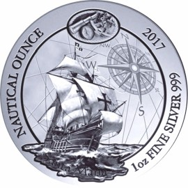 1 Unze Silber Nautical Santa Maria Ruanda 2017