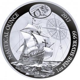 1 Unze Silber Ruanda Nautical Santa Maria 2017 PP