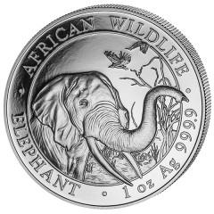 1 Unze oz Silber Somalia Elefant 2018
