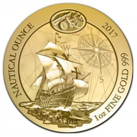 1 Unze oz Gold Nautical Santa Maria Ruanda 2017