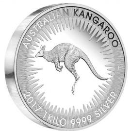 1kg Silber Känguri Kangaroo  2017 PP Box