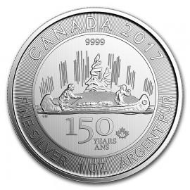 1 Unze Silber Canoe Kanu 2017  Canada