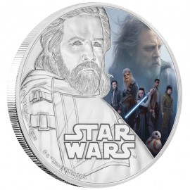 1 Unze oz Silber The Last Jedi- Luke Skywalker Star Wars Niue Box PP