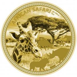 5 Unzen Gold African Safari Lion 2017 PP 20000  Francs CFA