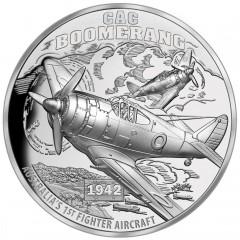 1 Unze Silber Boomerang  CAC Niue