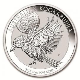 10 Unzen Silber Australien Kookaburra 2018