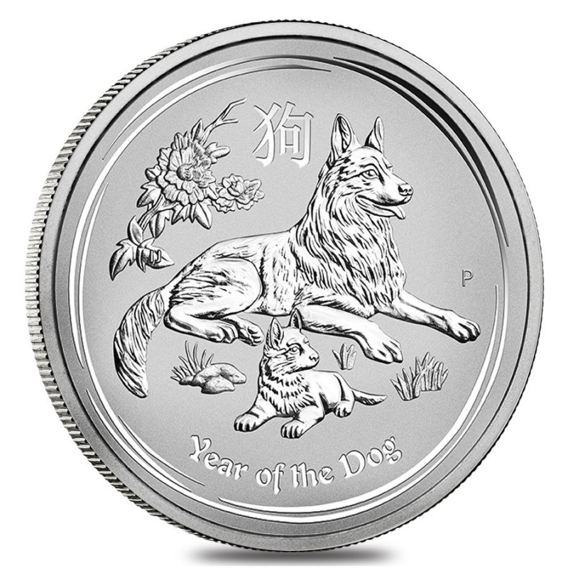 1 Kg Silber Hund Lunar II 2018