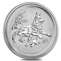 5 oz Silber Dog Lunar II 2018
