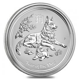 10 oz Silber Hund Lunar II 2018