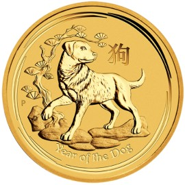 1/10 oz Gold Lunar II Dog 2018