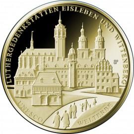1/2 Unze oz  Luthergedenkstätten Eisleben und Wittenberge Gold 2017 Unesco Weltkulturerbe 100 Euro