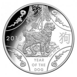 5 Unzen oz Silber Hund Dog  Lunar  2018  PP Rooster RAM