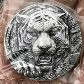 80 Gramm  China Silber Tiger