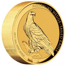 5 Unze Gold Wedge-Tailed Eagle PP High Relief  mit Box 2018