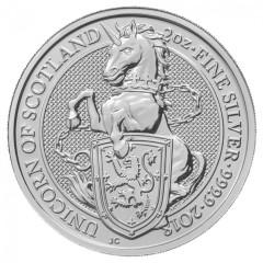 2 Unzen Silber Queens Beasts Unicorn Einhorn 2018 High Relief